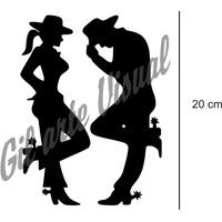 Adesivo Country Casal - Cowboy E Cowgirl R$ 10,00 O Casal
