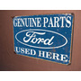 Placas Decorativas Chevrolet Ford Fiat Fusca Carro Antigo