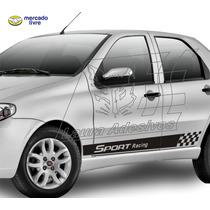 Adesivo Sport Racing Palio 4/portas Kit Faixa Lateral Tuning