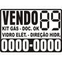 Kit 03 Adesivos Vende-se Vendo Vende Aluga Carro 03 Unids