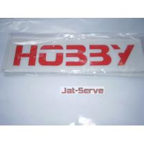 Emblema Adesivo Escrito Hobby Em Vermelho Para Escort Hobby