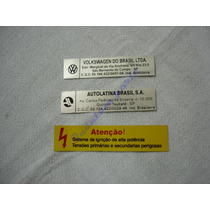 Kit Adesivos Vw Fusca C/ Informacoes Tecnicas