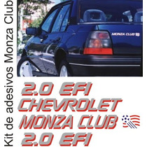 Kit De Adesivos Gm Chevrolet Monza Club 2.0 Efi