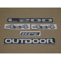 Kit Adesivos Mitsubishi L200 Hpe 4x4 Outdoor Resinado Decalx