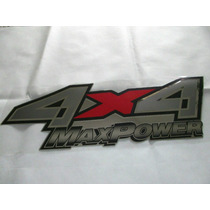 Emblema Adesivo 4x4 Max Power F-250 Fundo Prata Ou Preto