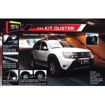 Kit Duster C/ Bumper Alargador Friso E Kit Farol Milha
