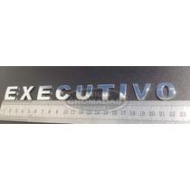 Emblema Executivo Cromados 2cm Com Adesivo 3m