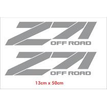 Par Adesivos Z71 Off Road Chevrolet Em Cinza - Decalx