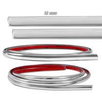 Rolo Filete Friso Cromado Adesivo Carros Moto Universal 12mm