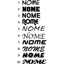 10 Adesivos C/ Seu Nome- Cole No Carro Moto Celular Notebook