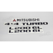 Kit Adesivos Mitsubishi L200 Gl 4x4 Turbo - Decalx