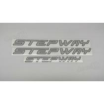 Kit Adesivos Renault Sandero Stepway Cinza - Decalx
