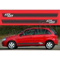 Kit Faixas Adesivos Chevrolet Corsa Ss Css006 - 3m - Decalx