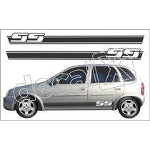 Kit Faixas Adesivos Chevrolet Corsa Ss Cm4003 - 3m - Decalx