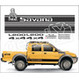 Kit Faixa Adesivos Mitsubishi L200 Savana Dakar - 3m- Decalx