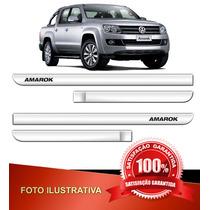Kit Friso Lateral Logomarca Volkswagen Amarok Cromado 11/ _#