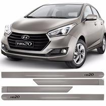 Friso Jogo Lateral Hyundai Novo Hb20 2016/... Prata Sand