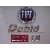 Kit Emblemas P/ Doblo + Elx + 1.8 + Fiat Mala .../2010 - Bre