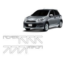 Par Faixa Lateral Paralama Nissan March 2012 A 2015