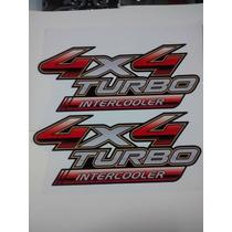 Kit 2 Adesivo 4x4 Turbo Toyota Hilux Qualidade, Frete Gratis