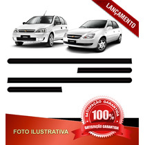 _jogo Friso Largo Lateral Preto Corsa 02/11 Hatch Sedan 4p