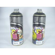 Tinta Spray Preto Fosco Artes Graffiti 400ml
