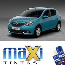 Tinta Spray Automotiva Renault Azul Techno + Verniz 300ml