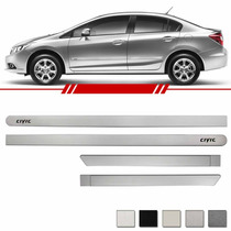 Jogo Friso Lateral New Civic 07 08 09 10...2013 Prata Global