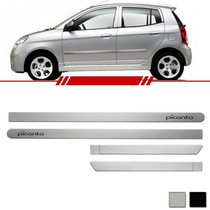 Kit Friso Lateral Grafia Picanto 2007 2008 2009...14 Prata