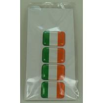 Bandeira Resina Irlanda Tarjeta Adesivo Placa 2,3 X 1,6cm