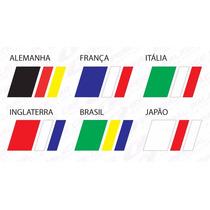 Adesivo Bandeira Alemanha Italia França Japão Brasil Auto