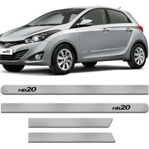 Friso Lateral Hyundai Hb20 Prata Metal Cor Original Do Carro