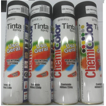 Kit 20 Latas Tinta Spray Preto Fosco Sec. Rapida 400ml!