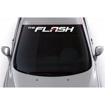 Adesivo Faixa De Parabrisa Personalizado Rebaixado The Flash