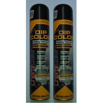Kit 2 Sprays Envelopamento Liquido Com 400ml Preto Brilhante