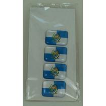 Kit Bandeira Rio De Janeiro Tarjeta Adesivo Placa 2,3 X 1,6