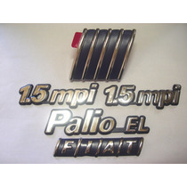 Kit Emblemas Palio El + 2x 1.5 Mpi + Capo E Mala 97/00 - Bre