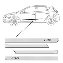 Friso Lateral Hyundai I30 Prata Pintado Personalizado 4porta