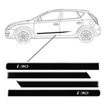 Friso Lateral Hyundai I30 Preto Pintado Personalizado 4porta