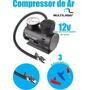Mini Compressor De Ar Enche Pneus De Carros,moto,bike -12vts