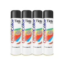 Kit 20 Latas Tinta Spray Preto Brilhante Sec. Rapida 400ml!