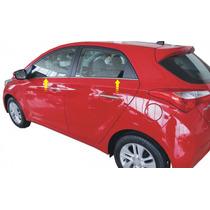 Kit Aplique Cromado Base Janelas Hyundai Hb20