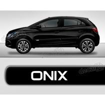 Kit Friso Adesivo Lateral Resinado Chevrolet Onix Em Preto