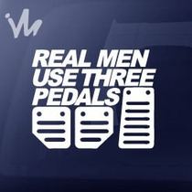 Adesivo Real Men Use Three Pedals Carro Esportivo Jdm Euro