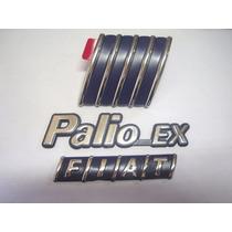 Kit Emblemas Palio Ex + Mala Fiat + Capo 98/00 - Bre