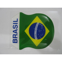 Bandeira Do Brasil Brasão Resinada