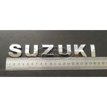 Emblema Suzuki Cromados De 3cm Com Adesivo 3m