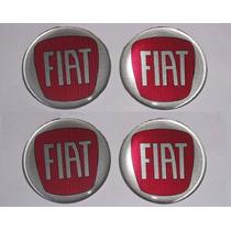 Jogo Emblema Botom Para Roda Esportiva Ou Calota Fiat 65mm