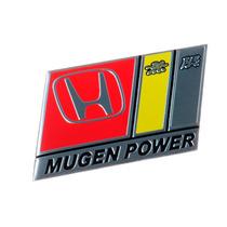 Emblema Adesivo Badge Em Metal - Honda Mugem Power - Civic
