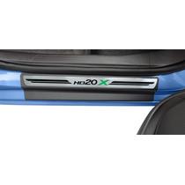Hyundai Hb20x - Soleira Premium Super Protetora - 8 Peças